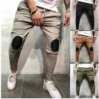 protector elástico de la cintura al por mayor-Pantalones de chándal de moda para hombres, pantalones de retazos, pantalones de calle, pantalones de jogger, pantalones de harén de cintura elástica, pantalones de lápiz