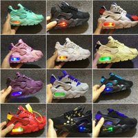 Wholesale baby canvas lace up sneakers for sale - Group buy 2018 Air Huarache infant Running Shoes kids sports White Children Huaraches huraches Designer Hurache Casual trainers Baby Running Sneakers