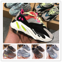 Wholesale Kids Shoes Baby Toddler Run Sneakers Kanye West Yez Running Shoes Infant Children Boys And Girls Chaussures Pour Enfants EUR28