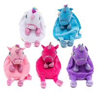 Wholesale children school bags sale for sale - Group buy Plush Shoulder Backpack Cartoon Unicorn Children Large Capacity School Bag Kids Travel Portable Exquisite Knapsack Hot Sale xc Ww