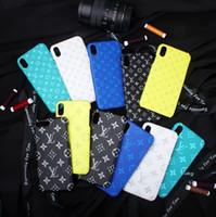 iphone fall monroe großhandel-Luxus-Telefon-Kasten für Samsung S8 S9 S10 5G Anmerkung 10 9 8 Leder Muster-Druck-Designer-Telefon-Kasten für iPhone 11 Pro X Xs Max 8Plus 7 6 Abdeckung