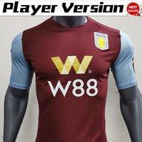 villa fußball groihandel-Spieler Versio 2020 Aston Villa zu Hause Fußballjerseys 19/20 # 9 WESLEY 10 # Grealish Fußball-Hemden Adult-Fußball-Uniform
