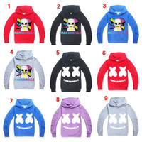 jaquetas escolares meninos venda por atacado-Marshmello hoodies moletons escola meninos hip hop Rapper Bboy dancer DJ pullover casaco com capuz casaco fatos