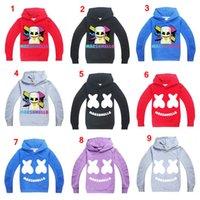 vestes pour garçons achat en gros de-Marshmello sweats à capuche écoliers hip hop rappeur Bboy danseur DJ pull à capuche manteau survêtements