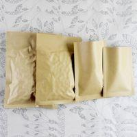 selo térmico sacos de alumínio embalagem de alimentos venda por atacado-DHL 500pcs / lote 11 * Alumínio Top Abrir Coffee Party Food 16 centímetros Papel Kraft Brown Embalagem Bolsas de embalagem Bag Seal Calor Mylar