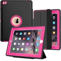 Wholesale ipad rugged heavy duty case for sale - For Ipad Air Case Heavy Duty Full Body Rugged Protective Case with Auto Sleep Wake Up Stand for Ipad Pro