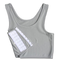 weiße bindemittel großhandel-Frauen Rundhals Beiläufige Kurze Brust Weste Atmungsaktive Schnalle Binder Trans Korsett Schwarz Grau Weiß