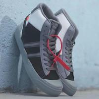blazers de hombre blanco al por mayor-Hotsale Mediados Blazer x Zapatos blancos Eve mujer de los hombres monopatín para hombre de los zapatos del diseñador Lobo Gris Serena Parca de Todos los Santos zapatillas de baloncesto