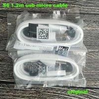 samsung galaxy için usb kablo şarj cihazları toptan satış-Samsung Galaxy S6 S7 kenar için orijinal USB hızlı şarj Şarj hattı kablosu 1.2 m Mikro USB veri hattı kablosu HTC S6 için kenar