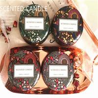 boîtes de mariage pour bougies achat en gros de-Relief Tin Box Bougie Parfumée Coloré Chambre Salon Décorer Paraffine Aromathérapie Bougies Coupe Anniversaire De Mariage Souvenir 8zbD1