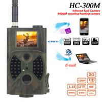 avcılık gece görüş kameraları toptan satış-Yikacam HC300M Av Kamera GSM 12MP 1080P Fotoğraf Tuzaklar Gece Görüş Vahşi Av Trail Kameralar avı Chasse izci kızılötesi