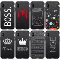 Wholesale cell phone cases bottle for sale – best For Iphone Pro Xs Max Xr Phone Case Literary Text Spider Bottle X Plus Black Soft Cell Phone Cases