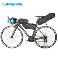 bisiklet için eyer poşetleri toptan satış-Roswheel Bisiklet Çanta Su Geçirmez MTB Yol Bisikleti Sele Çanta Bisiklet Üst Ön Çerçeve Tüp Gidon Çantaları Bisiklet Aksesuarları