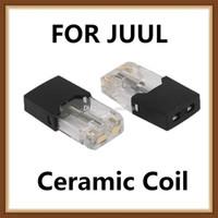 carcasa de batería aa al por mayor-El cartucho de aceite grueso más caliente de 2019 bobina de cerámica cartucho de vainas vacías 0,7 ml 1,0 ml VapeTank para JUUL Coco Battery Kit DHL