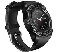 v8 uhr kamera großhandel-V8 sport smart watch anti-verlorene smartwatch unterstützung sim tf karte uhr kamera anruf schritt zähler schlaf erinnern