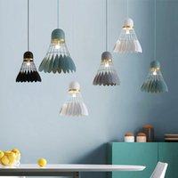 sala de estudo minimalista moderna venda por atacado-Badminton lustre Modern E27 minimalista pingente de luz Sala de Jantar Lâmpada Criativa Personalidade Bar Estudo quarto lâmpada (Incluindo lâmpadas)