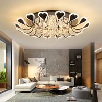 luz de techo en forma de corazón al por mayor-Sala de estar de lujo Crystal Light 2019 Nuevo led Luces de techo empotradas para montaje empotrado Atmósfera minimalista Cristal en forma de corazón led Lámparas de techo