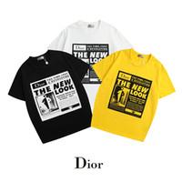 camiseta nueva imagen de diseño al por mayor-Nuevo Mens Tees de verano Tallas grandes Camiseta de manga corta Carta Impreso camiseta de algodón Diseñador 3D Ropa M-XXL Camiseta de golf