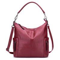 bayan fermuarlı çanta toptan satış-Ünlü Marka kadın Çanta Inek Deri Çanta Kadın Omuz Çantası Tasarımcı Lady Tote Kadınlar Için Büyük Kapasiteli Fermuar Çanta