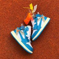 ingrosso nuovi ragazzi di scarpe da basket-PreSchool UNC High OG 1s Youth Kids Scarpe da pallacanestro White University Blue New Born Bambino neonato Trainers Ragazzi Ragazze Sneakers