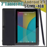 Wholesale 7inch allwinner tablet pc for sale - Group buy JT Allwinner A33 Quad Core Q88 Q8 Tablet PC Dual Camera Flashlight Inch capacitive screen Android MB GB Wifi OTG Google play A PB