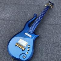ingrosso corpo alder chitarra-2019 Serie Diamond Blue Metallic Blue Prince Nover Corpo in ontano, collo in acero, cordino avvolgente, inserto bianco, pickup bianchi