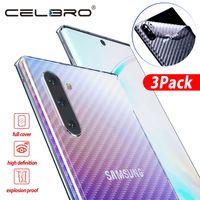 galaxy note protector mate al por mayor-Pegatina trasera mate para Galaxy Note 10 Plus Protector de pantalla de película trasera Película protectora para Note 10plus Note10 Carbono