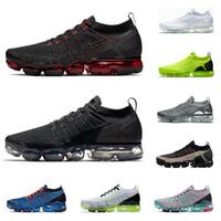 ingrosso scarpe da ginnastica nera-2019 nike air vapormax run utility scarpe da corsa per uomo triple nero bianco TROPICAL TWIST rosso CELESTIAL TEAL uomo trainer sneakers sportive traspiranti