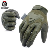 Wholesale fingerless combat gloves for sale - Group buy Tactical Gloves Army Paintball Shooting Combat Bicycle Rubber Protective Anti Skid Full Finger Glove Men Women