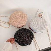 Wholesale cute phone pouches online – custom Women Shoulder Handbags Shell Bag Chain Cute Sequins Small Bag Phone Money Pouch Zipper Crossbody Bags for Women Bolsa Feminina