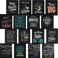 duvar posteri arka planı toptan satış-Kendini Geliştirme Siyah Arka Plan Posterler Baskı Karatahta Duvar Dekoratif Resim Playbill Bar Ofis Süslemeleri Yumuşak Ve Işık 8 59hz6C1