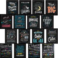 fundos de escritório venda por atacado-Self Improvement Black Background Posters Impressão Blackboard Parede Decorativa Imagem Playbill Bar Office Decorar Suave E Leve 8 59hz6C1
