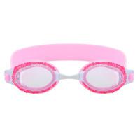bandas de silicone rosa venda por atacado-Criança antifog subaquática óculos de natação à prova d 'água crianças óculos de silicone crianças banda ajustável óculos de natação rosa azul