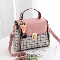 ingrosso tipi borse per ragazze-12 colori nuovo tipo sveglio signore PU borsa alta qualità vendita calda piccole ragazze squisita corrispondenza di colore moda casual piccola borsa quadrata