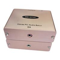 ingrosso reti audio-adattatore audio cat5 3.5 Convertitore da RJ45 a 3,5 stereo Audio extender Rete audio per PC stereo da 3,5 a rj45