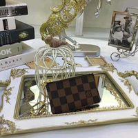 Wholesale l key ring for sale - Group buy 5A L Classic Luxury Designer Men Women Key Wallet Key Pouch Bag Charm Famous Mono Gram Canvas Black Checkered Wallets Key Ring