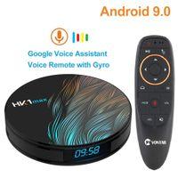 телевизионные приставки google tv оптовых-HK1 Max Smart TV Box Android 9.0 4GB 64GB RK3318 1080p 4K Wifi Google Play Netflix Set top Box Voice Remote Android Box 9.0