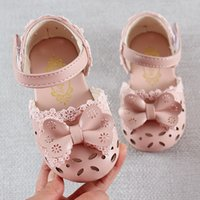 Wholesale sandal shoes for kids boys resale online - Newest Summer Kids Shoes Fashion Leathers Sweet Children Sandals For Girls Toddler Baby Breathable Hollow Out Bow Shoes