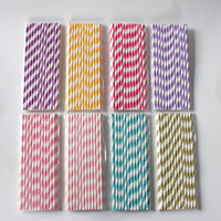 Wholesale colorful drinking paper straw for sale - Group buy 25pcs Biodegradable Paper Straws Different Colors Rainbow Stripe Paper Drinking Straws Bulk Paper Straws for Juice colorful drinking straw
