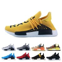 Wholesale cycle shoes online for sale - Group buy Human Race Running Shoes Men Women Pharrell Williams HU Runner Yellow Black White Red Grey Blue For Mens Sports Sneakers Sale Online