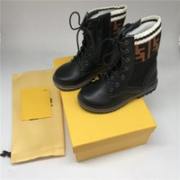 Wholesale kids wearing shoes for sale - Group buy Kids Autumn Boots Designer Unisex Matin Boots Genuine Leather Zipper Shoes Winter Footwear with Original Box Boys Girls School Wearing