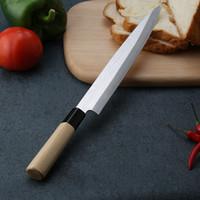 laser en acier inoxydable achat en gros de-Couteau de cuisine Couteaux laser Chef Couteaux à sushi au saumon japonais Acier inoxydable Sashimi Couteau de cuisine Poissons crus en filets Couteau de cuisine