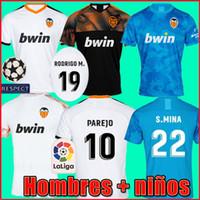 valencia fußballhemd großhandel-19 20 Valencia Fußballtrikots PAREJO 2019 2020 Valencia CF RODRIGO Fußballtrikot MINA Trikot GAYA GAMEIRO Fußballtrikot