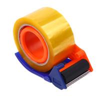 verpackungsklebebänder großhandel-60mm Iron Paking Package Seal Klebeband Rollenspender Cutter Schneiden