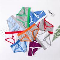 thongs stämme großhandel-100% berühmte herren kurze underwear mann boxershorts tanga brief um designer pouplar marke stamm baumwolle herren penis rutscht unterwäsche
