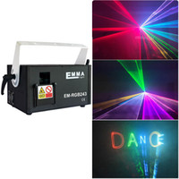 Wholesale laser dj lights ilda resale online - 2w RGB animation analog modulation laser light show DMX ILDA laser disco light stage laser projector