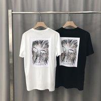 desenho da coruja venda por atacado-2019 Primavera-Verão Luxo Europa Paris arte logotipo bordado assinatura coruja desenho T-shirt Mulheres Moda Homens T Shirt puro algodão T Top