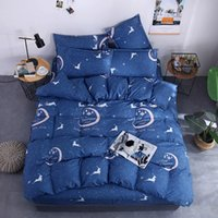 Wholesale christmas bedding sets king for sale - Group buy King Size Bedding Set Christmas Fantasy Navy Snowflake Duvet Cover Reindeer Queen Full Twin Comfortable Bed Cover with Pillowcase