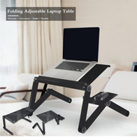 Wholesale beds china for sale - Universal Aluminum Computer Desk Portable Adjustable Foldable Laptop Notebook Lap PC Easy Carry Folding Desk Table Vented Stand Bed Tray
