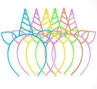 orejas de gato al por mayor-Venta caliente Unicornio Bandas del pelo del partido para las mujeres de las mujeres del color del caramelo Bisel Aros Unicornio diadema Cat Ears Haar accesorios al por mayor
